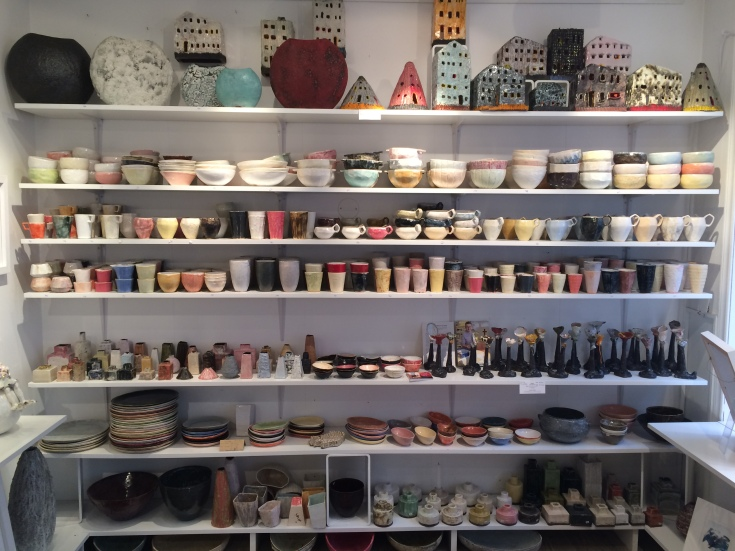 Great selection of local made ceramics